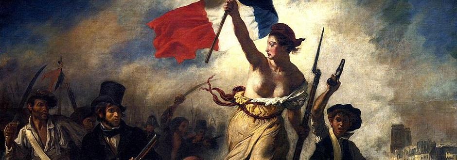 »Die Freiheit führt das Volk« gemalt von Eugène Delacroix zum Gedenken an die Pariser Julirevolution von 1830.